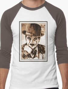 old book drawing famous people cal Men's Baseball ¾ T-Shirt