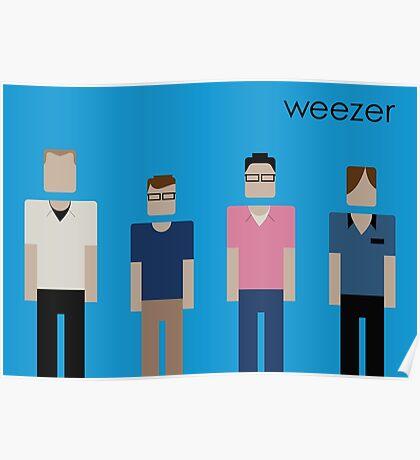 Weezer - Blue Album Tribute Poster