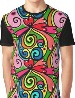 Psychedelic Love Abstract Graphic T-Shirt