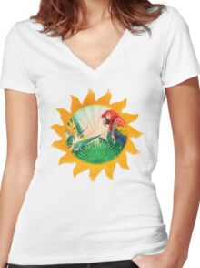 Tropics Women's Fitted V-Neck T-Shirt