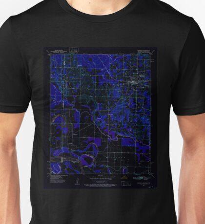USGS TOPO Map Arkansas AR Foreman 258472 1951 24000 Inverted Unisex T-Shirt