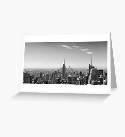 New York City - Empire State Building Panorama - 2015 Edition Greeting Card