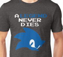 A Legend Never Dies - Sonic the Hedgehog (ver. 2) Unisex T-Shirt