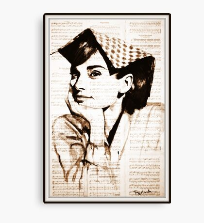 old book drawing famous people cal Canvas Print
