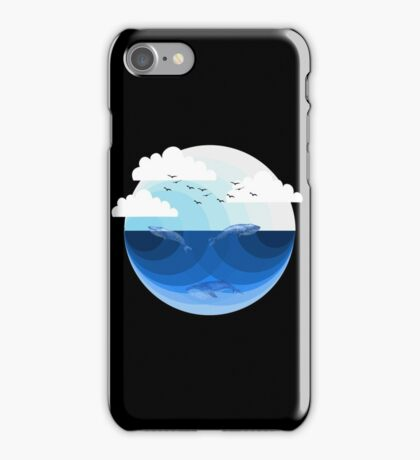 Nature Blues - Whales iPhone Case/Skin