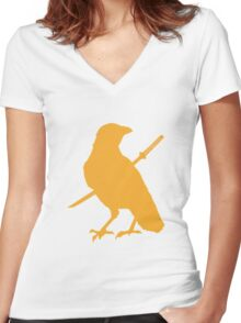 caw caw motherfucker Women's Fitted V-Neck T-Shirt