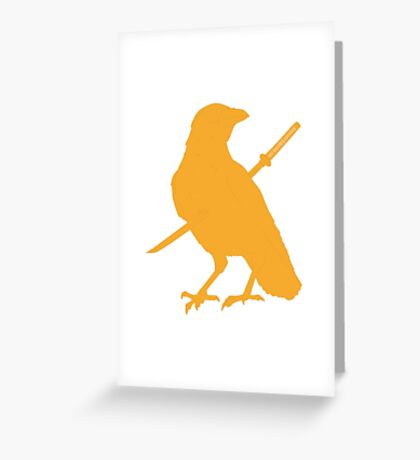 caw caw motherfucker Greeting Card
