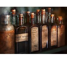 Pharmacy - Syrup Selection  Photographic Print