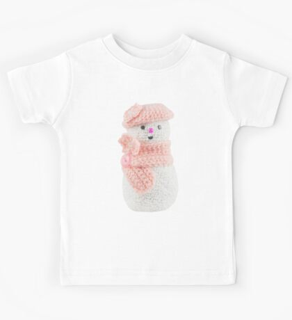 Pink snow woman Kids Tee