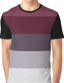 Trendy Winter Colors Ombre Grey Burgundy red plum stripes Graphic T-Shirt