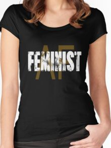 Feminist af as f Women's Fitted Scoop T-Shirt