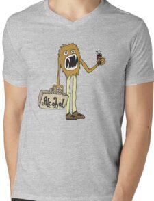 Long Booze Man Mens V-Neck T-Shirt