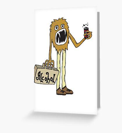 Long Booze Man Greeting Card