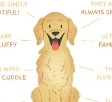 10 Reasons to love Golden Retrievers Sticker