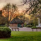 Springtime Sunset in Chapelfield Gardens by Ruski