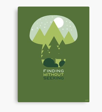 FINDING WITHOUT SEEKING Canvas Print