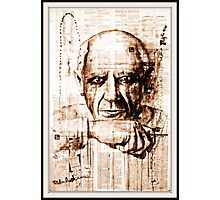 old book drawing famous people cal Photographic Print