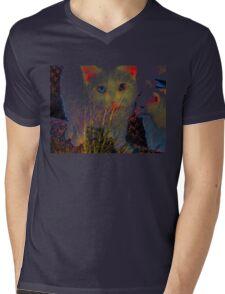 Three blue eyes Mens V-Neck T-Shirt