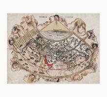 1513 World map Generale Ptholemei by Martin Waldseemüller One Piece - Short Sleeve