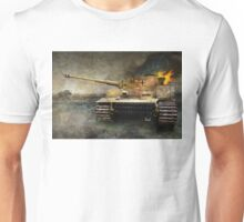 tiger tank faces T-34, eastern front Unisex T-Shirt
