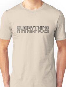 radiohead lyrics cool modern t shirts Unisex T-Shirt