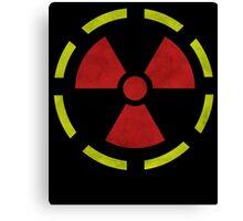 Radioactive hazard symbol Canvas Print