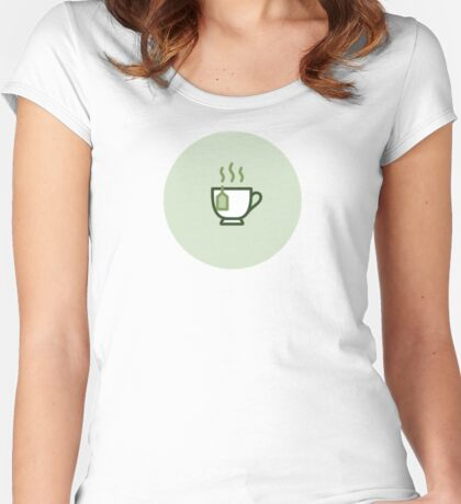 Tea - Icon Prints: Drinks Series Women's Fitted Scoop T-Shirt