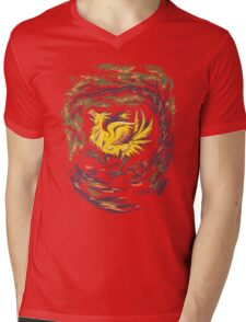 Chocobo with Blossoms Mens V-Neck T-Shirt