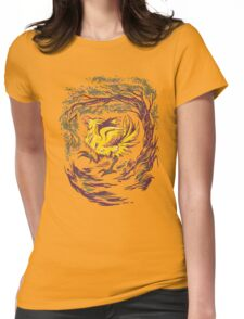 Chocobo with Blossoms Womens Fitted T-Shirt