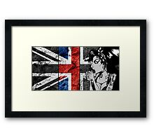 Amy Winehouse Abstract Flag Framed Print