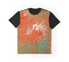 As Luck Would Have It, Abstract Swirls Art Graphic T-Shirt