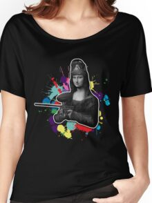 Mona Lisa the painter Women's Relaxed Fit T-Shirt