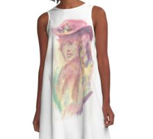 Watercolor Bust A-Line Dress