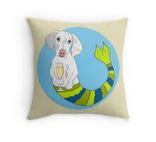 Dixie the Weimeranher Mermutt Throw Pillow