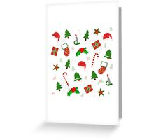 Christmas Pattern #2 Greeting Card