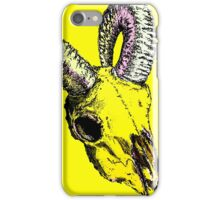 Decay Hath Such Grace - Ram Skull - YELLOW iPhone Case/Skin