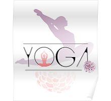 yoga namaste indien sport meditation rose pink blume hund budda Poster