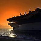Midway Sunset by Bob Moore