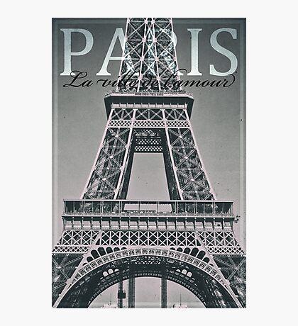 Eiffel Tower, Paris, Ile-de-France, France. Photographic Print