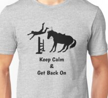 Keep Calm & Get Back On The Horse Black Unisex T-Shirt