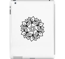 Exclusive mandala hand-drawn Art : black and white iPad Case/Skin
