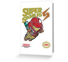 Super Samus Bros Greeting Card