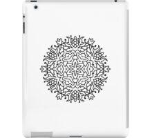 New original mandala hand-drawing. Black and white iPad Case/Skin
