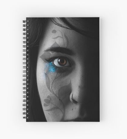 Half female face with transfer Spiral Notebook