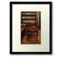 cigar in cozy smoking room Framed Print