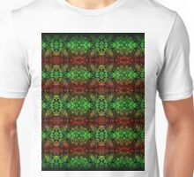Psychedelic red green complex pattern  Unisex T-Shirt