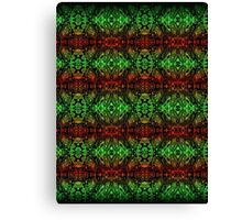 Psychedelic red green complex pattern  Canvas Print
