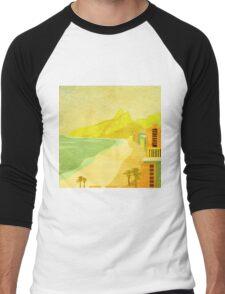 Ipanema Beach Rio de Janeiro Brazil Men's Baseball ¾ T-Shirt