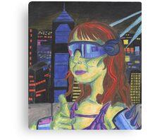 Blade Runner/ Sci-Fi Homage Self-Portrait Canvas Print