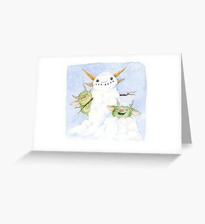 Snow Gnome Greeting Card